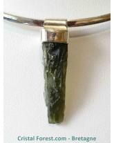 Pendentif Moldavite & argent 925 - 3,2 cm