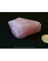 "Morganite brute (Béryl Rose) ""extra"" - R3028"