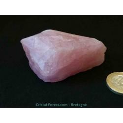 Morganite - pierre brute (Béryl Rose)