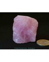 "Morganite brute (Béryl Rose) ""extra"" - R3029"
