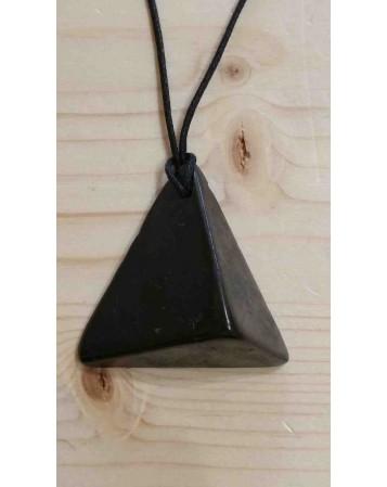 Pendentif de Shungite - Triangle 3D