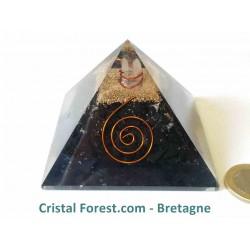 Pyramide d'Orgonite et shungite 7,2cm