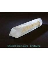 Quartz laser chlorite bi-terminé