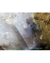 Quartz brookite-chlorite en amas 217gr