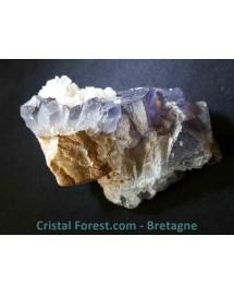 Fluorite bleue sur gangue