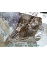 Amas brut de quartz brookite et chlorite