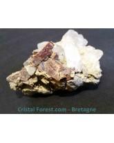 "Sidérite sur gangue de quartz ""hashopi"" - 242 gr"