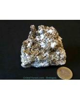 Chalcopyrite sur gangue de quartz - 301 gr