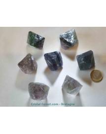"""Fluorite brute """"octaèdre"""" Jumbo"""
