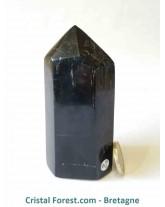 Pointe polie Tourmaline noire - 9,8 cm