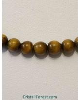 Collier Oeil de tigre - Boules 6 mm - 45 cm