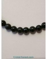 Collier Obsidienne Oeil céleste - Boules 6 mm - 45 cm