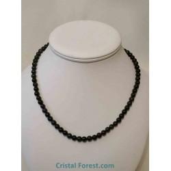 Obsidienne Oeil céleste - Collier Boules 6 et 8 mm fermoir argenté