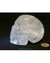 Crâne en Cristal de roche - 11 cm - 1kg
