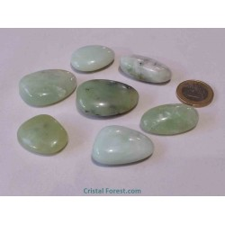 Galet - Jade de Chine/Serpentine - 3 à 3,5 cm