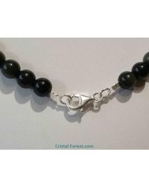 Obsidienne Oeil céleste + argent