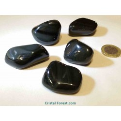 Obsidienne oeil céleste : Pierre roulée  - GM : 3,5 à 4,5 cm