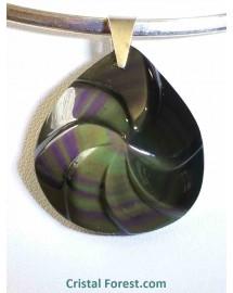 Obsidienne arc-en-ciel (oeil céleste) Extra++