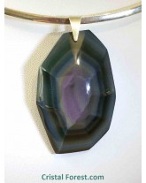 Pendentifs d'obsidienne arc-en-ciel (oeil céleste) Forme libre & argent - Extra