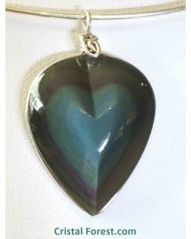 Obsidienne arc-en-ciel (oeil céleste) extra