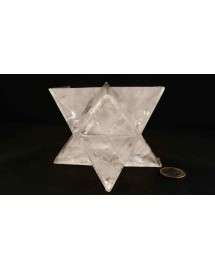Merkabah Cristal de roche - 10,5 cm