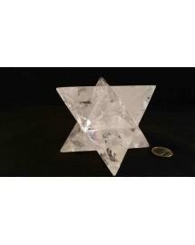 Merkabah Cristal de roche - 10,7 cm