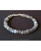 Labradorite extra - Bracelet fermoir en argent