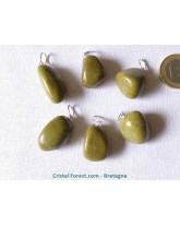 Opale verte - Pendentif pierre roulée