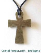 Pendentif d'Obsidienne dorée - croix d'isis ou clé de vie égyptienne