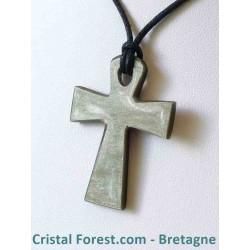 Obsidienne dorée - Pendentif croix d'Isis (clé de vie égyptienne)