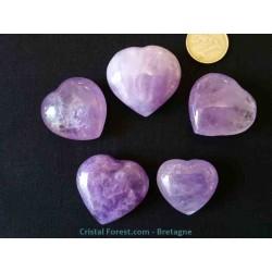 Coeur d'Améthyste 3,5 à 4 cm