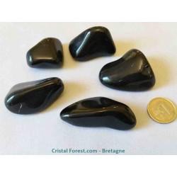 Pierre roulée d'Obsidienne noire 4 à 6 cm