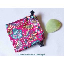 Sachet en soie  pour pierre ou pendule