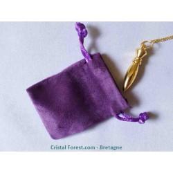 Sachet violet de protection pour pierres