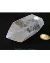 Cristal de roche bi-terminé - 12 x 4,8 cm