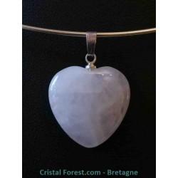 Quartz rose - Pendentif Coeur