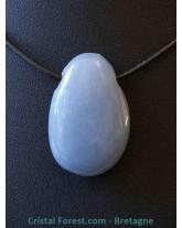 Angélite (Anhydrite) - Pendentif pierre percée