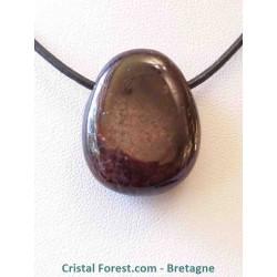 Pendentif de Grenat rouge - pierre perçée