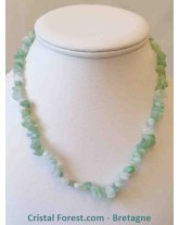 Amazonite - Collier Baroque (ships) avec fermoir.