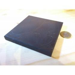 Plaque de Shungite 10 x 10 cm - polie 1 face