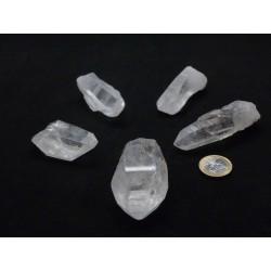 Cristal de roche, pointes brutes 3,5 à 5 cm