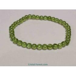 Bracelet boule - Péridot extra - 6 mm