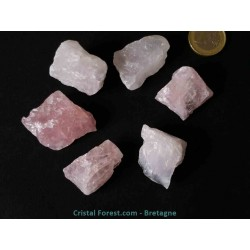 Quartz Rose - pierres brutes 3 à 4 cm