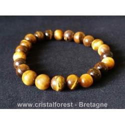 Bracelet Oeil de tigre - Boules 8 mm