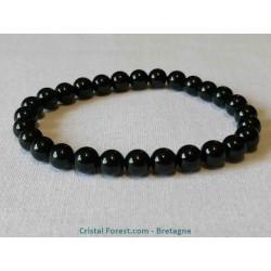 Bracelet de Spinelle noire - Boules 6 mm