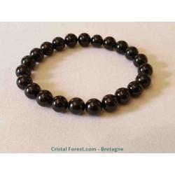 Tourmaline noire - Bracelet boule 8 mm