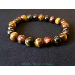 3 yeux (oeil de tigre, taureau et faucon) - Bracelets boules