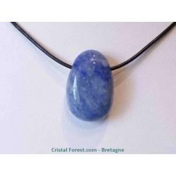 Quartz bleu - Pendentif pierre percée