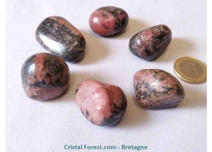 Rhodonite du Pérou AAA - Pierres roulées  - 3 à 4 cm / 32 g env.