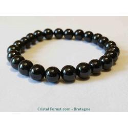 Spinelle noire - Bracelet - Boules 8 mm